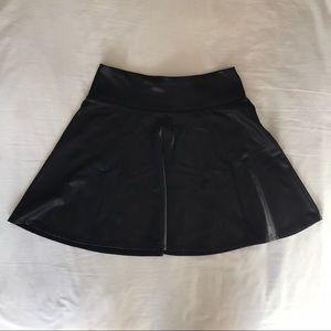 Forever 21 faux leather mini skater skirt